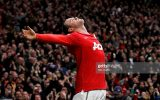 MANCHESTER, ENGLAND - FEBRUARY 12:  Wayne Rooney of Manchester United celebrates after he scores a goal from an overhead kick during the Barclays Premier League match between Manchester United and Manchester City at Old Trafford on February 12, 2011 in Manchester, England.  (Photo by Alex Livesey/Getty Images)