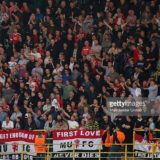 Manchester United fans. Supportrar.