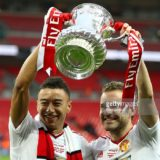 during The Emirates FA Cup Final match between Manchester United and Crystal Palace at Wembley Stadium on May 21, 2016 in London, England.