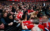 during the Emirates FA Cup Semi Final match between Everton and Manchester United at Wembley Stadium on April 23, 2016 in London, England.